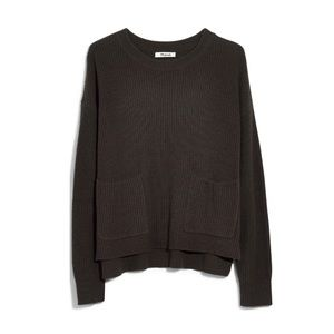 Madewell green patch perfect pullover sweater